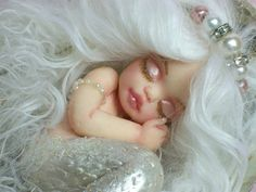 OOAK art doll fantasy mermaid baby polymer by JoyzanzCreations, $164.00