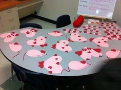 Our Valentines heart animals...all made from hearts..have students write a poem to go with their new friend! The kids LOVED it!
