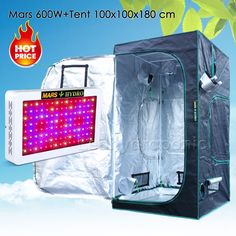 Mars Hydro600W Led Grow Light Veg Flower Plant Full Spectrum+1680D100x100x180 Indoor Grow Tent Kit #Mars, #Hydro--W, #Grow, #Light, #Flower, #Plant, #Full, #Spectrum+--D--x--x--, #Indoor, #Tent