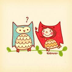 Double owl by Korawia