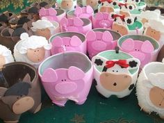 first birthday onesie Kids Crafts, Foam Crafts, Diy And Crafts, Farm Animal Party, Farm Party, Farm Birthday, Animal Birthday, Plastic Bottle Crafts, Plastic Bottles
