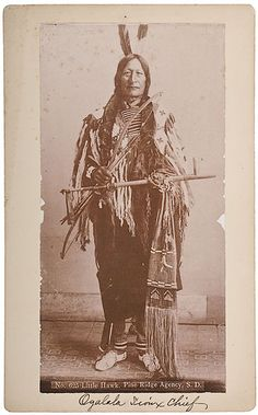 Little Hawk, Oglala Sioux Photograph by W.R. Cross