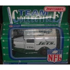 New York Jets 1990 Matchbox White Rose NFL Diecast Ford Model A Truck Collectible Car by NFL   $17.95