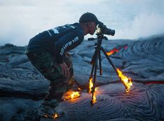 umm...I hate to interrupt the awesome shot you're getting of all the reeeeaally hot lava, but...