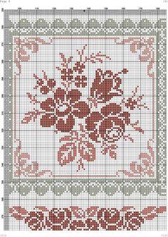 ru / # - kento - crochet and more - Cross Stitch Pillow, Cross Stitch Rose, Cross Stitch Borders, Cross Stitch Flowers, Cross Stitch Designs, Cross Stitching, Cross Stitch Patterns, Embroidery Sampler, Cross Stitch Embroidery