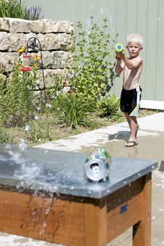 Such an easy water gun target for the kids to have fun with on a hot day!