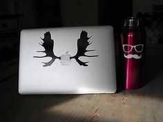 Laptop Decal MacBook Sticker Car Pro Dell Moose Antler Hunting Animal