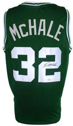 Kevin McHale Signed Custom Green Basketball Jersey JSA