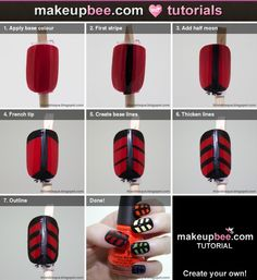 Step-By-Step Tutorial for Rainbow Pop Art Nails