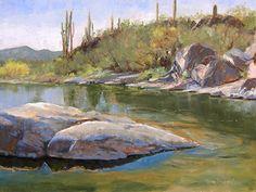 Jewel of the Creek by Nancy Romanovsky Oil ~ 12 x 16