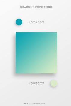 37 Beautiful Color Gradients For Your Next Design Project Beautiful Gradient Color Palettes - Teal Ui Color, Gradient Color, Gradient Nails, Flat Color Palette, Color Palettes, Colour Pallete, Web Design Tutorial, Design Tutorials, Modele Flyer