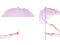 "Fumie Shibata designed an all plastic umbrella ""+TIC"" for the japanese brand ça et là."