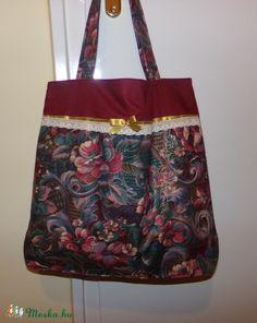 Vintazs Romantikus bordó-arany bevásárló táska (DobisMaria) - Meska.hu