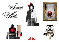 A fashion look from October 2017 featuring white long sleeve top, chanel jacket and short pleated skirt. Browse and shop related looks. Snow White 2, Chanel Jacket, Bobbi Brown, Salvatore Ferragamo, Balmain, Mac Cosmetics, Christian Dior, River Island, Polyvore Fashion