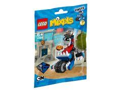 LEGO Mixels 41556 Tiketz Dieser supermobile Mixel ist frisch von der MCPD-Polizeiakademie zurück – und völlig versessen darauf, Festnahmen vorzunehmen. Für Tiketz ist die ganze Welt ein einziges Videospiel – und deshalb übt er sämtliche Pflichten eines Polizisten im Höchsttempo aus. Und falls irgendjemand es wagen sollte, die Cookironi zu stehlen, dann setzt es mächtig Ärger!