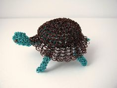 Wire crochet turtle by CatsWire, via Flickr