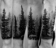 Cool Bear In Nature Pine Tree Forest Forearm Guys Sleeve Tattoos tree tattoo 100 Forearm Sleeve Tattoo Designs For Men - Manly Ink Ideas Forest Tattoo Sleeve, Nature Tattoo Sleeve, Forearm Sleeve Tattoos, Tattoo Sleeve Designs, Tattoo Designs Men, Tattoo Nature, Tree Tattoo Sleeves, Forearm Tree Tattoo, Sleeve Tattoo For Guys
