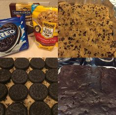 Slutty Brownies: Layer and bake at 350 for 30 minutes. Done!