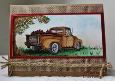 WT391 Old truck by Holstein - Cards and Paper Crafts at Splitcoaststampers