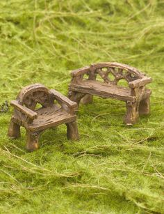 Fairy Garden - Woodland Furniture Set | Gardener's Supply