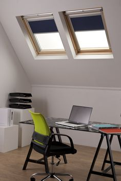 Solar powered motorised skylight blinds from Bloc Blinds. Made to measure wide range of skylight brands.