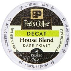 Peet's Coffee Decaf House Blend Single Cup Coffee for Keurig K-Cup Brewers 40 count ** Unbelievable product right here! : K Cups