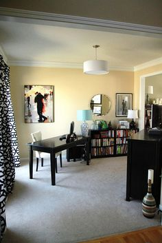 office makeover by anythingpretty,  Sherwin Williams Ivoire