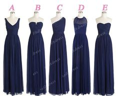navy prom dress custom prom dresses chiffon prom by sofitdress, $119.00. 126 colours available. pinning for later reference