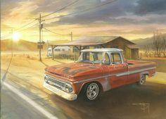 '63 Chevy Pickup Truck Painting by Ian Guy