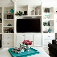 built in shelves around tv, basement, kids - Google Search