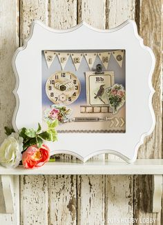 Get creative with memory frames from our Papercrafting department by putting together a 3-dimensional art piece.