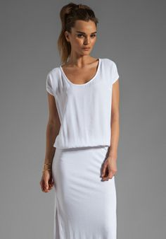 Monrow Crepe Woven Maxi Dress in White at Revolve Clothing - Free Shipping!