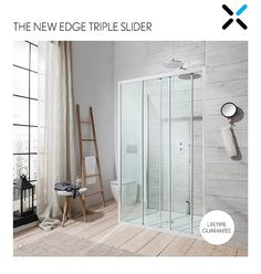 New for 2015, showering solution expert Simpsons is pleased to introduce the latest design to be launched as part of the Edge enclosure range – the Triple Slider.