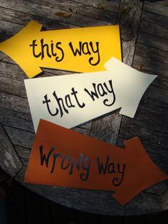 This Way  That Way Alice in Wonderland Arrow by BlueGardenias