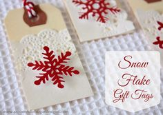 Snowflake Gift Tags - A Spoonful of Sugar (uses a cricut, but could buy scrapbooking sitckers or pieces instead)