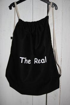 Turnbeutel schwarzer Beutel The Real Tasche von MeinekreativeWelt
