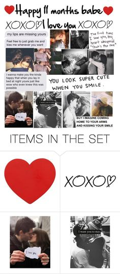 """""""Happy 11 months"""" by emmcg915 ❤ liked on Polyvore featuring art"""