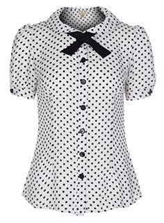 Lindy Bop 'Chelsea' Perfect Polka Vintage 50's Short Sleeved Pin Up Top (S, White) Lindy Bop http://www.amazon.com/dp/B00VED4AYY/ref=cm_sw_r_pi_dp_H3Xuvb0X7G5P7
