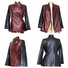 Look Feel Be Signature Leather Jacket $590 x