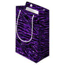 Glitter & Sparkles zebra pattern Gift Bag Small Gift Bag