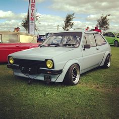 MODDED FIESTA MK1 Retro Cars, Vintage Cars, Mk1, American Motors, Old Fords, Ford Escort, Car Ford, Ford Motor Company, Modified Cars