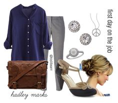 """""""Hadley Marks - First Day on the Job"""" by hislilbearrr on Polyvore"""