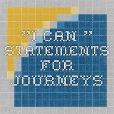 """I Can.."" Statements for Journeys"