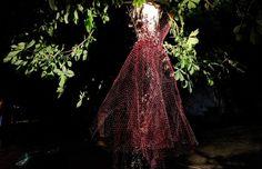 Ghost wire dress, Untold Festival collaboration, height 160 cm. www.artbending.ro  ©Dan Botea