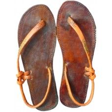 Leather Natural Mystic Sandals How can you live without making a pair of these!!? There needs to be a way to adjust the strap...