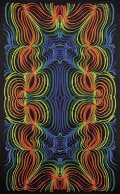 3-D Rainbow Ripple Tapestry | SunshineJoy.com