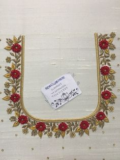 Ideas for embroidery blouse designs Cutwork Blouse Designs, Kids Blouse Designs, Wedding Saree Blouse Designs, Hand Work Blouse Design, Simple Blouse Designs, Embroidery Neck Designs, Embroidery Suits Design, Blouse Neck Designs, Hand Designs