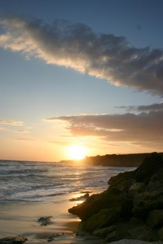 Sunset on Ammes beach. Kefalonia