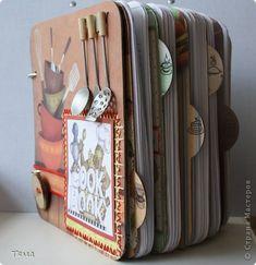 Книга Скрапбукинг Аппликация Кулинарная книга Бумага Картон Ленты Нитки фото 1