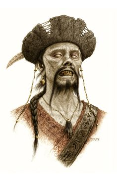 PIRATES OF THE CARIBBEAN: ON STRANGERS TIDES Zombie Concept Art
